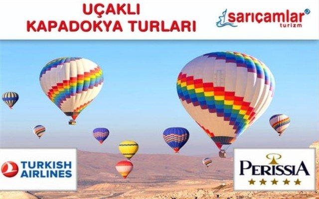 5 Yıldızlı Perissia Hotel Konaklamalı Uçak Dahil Kapadokya Turu